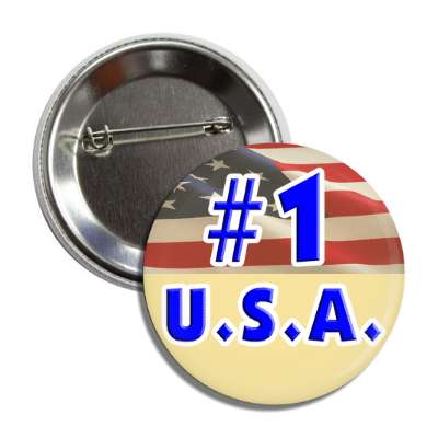number one usa button