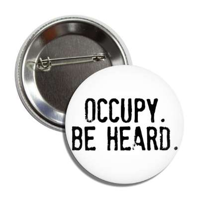 occupy be heard button
