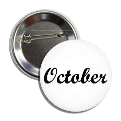 october tenth month year button