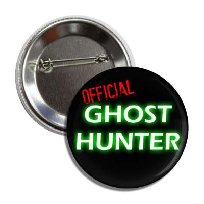 official ghost hunter button