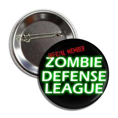 official zombie defense league button