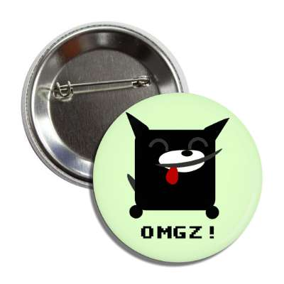 omgz cartoon cat button