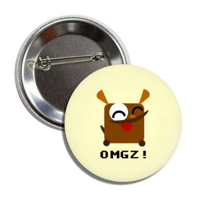 omgz cartoon dog button
