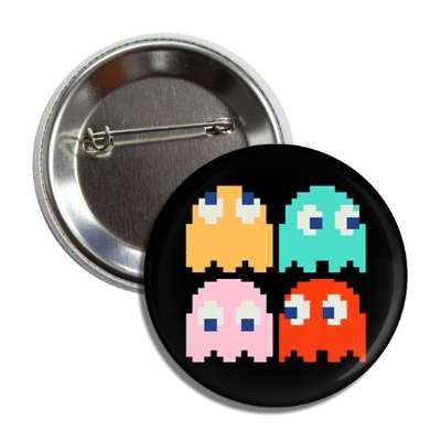 pac man ghosts button