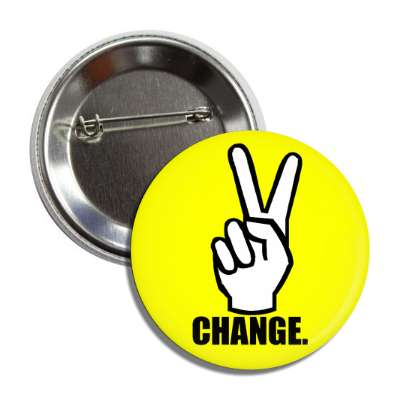 peace change peace hand sign button