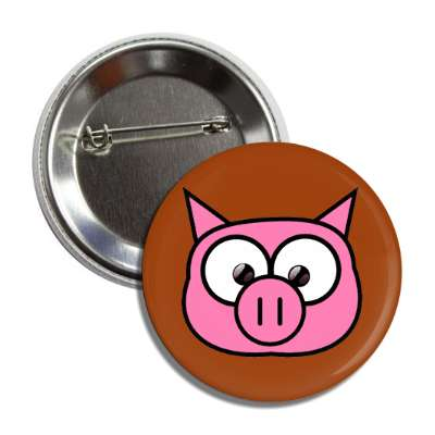 pig cute cartoon button
