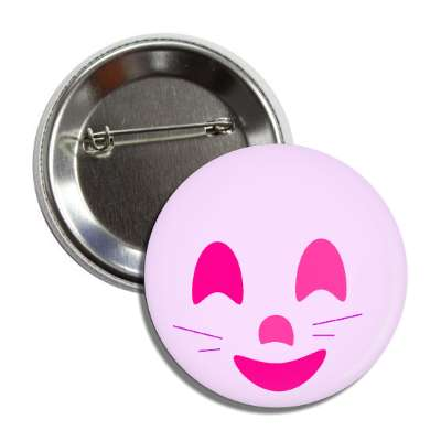 pink face whiskers button