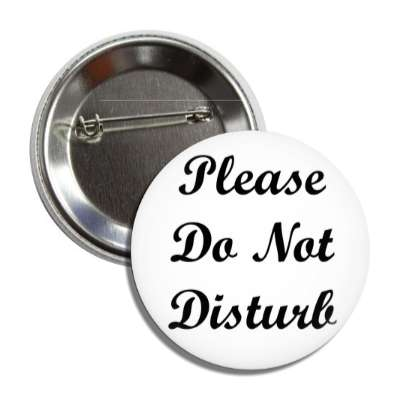 please do not disturb button