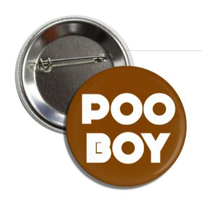 poo boy button