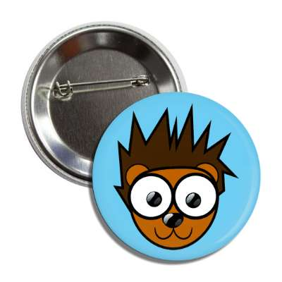 porcupine cute cartoon button