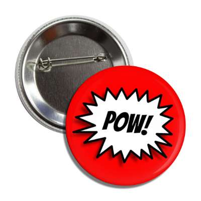 pow comic strip sound effects button