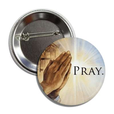 pray hands praying button