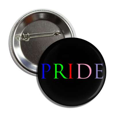 pride black rainbow button