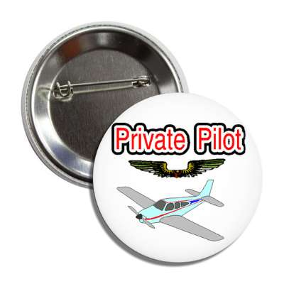 private pilot airplane button