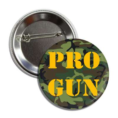 pro gun stencil orange camouflage button
