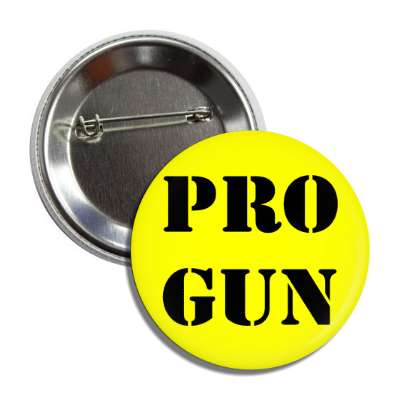 pro gun stencil yellow black button