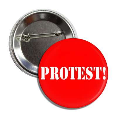 protest stencil red button