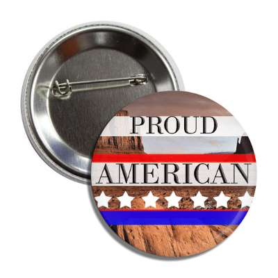 proud american cliffs red white blue stars button