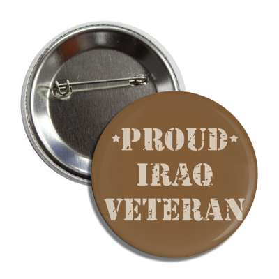 proud iraq veteran button