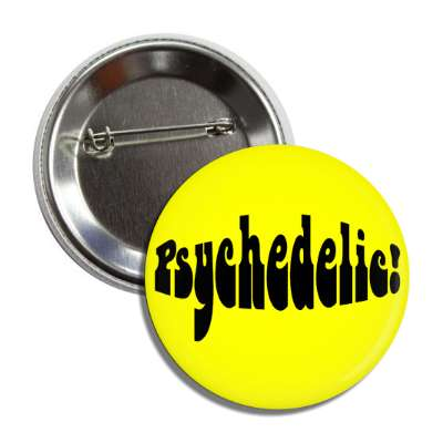 psychedelic hippy yellow button
