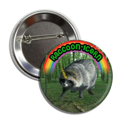 raccoonicorn unicorn button