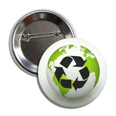 recycle earth arrow symbol button