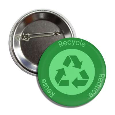 recycle reduce reuse green symbol button