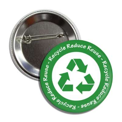 recycle reduce reuse green white symbol button