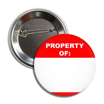 red property of button