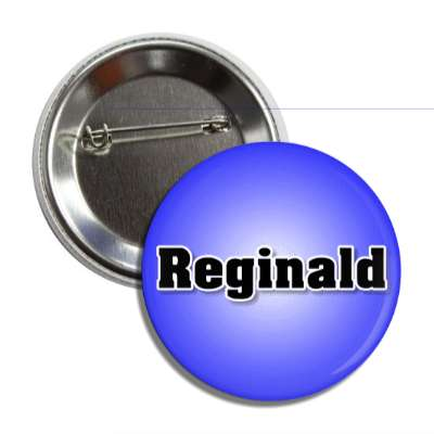 reginald male name blue button