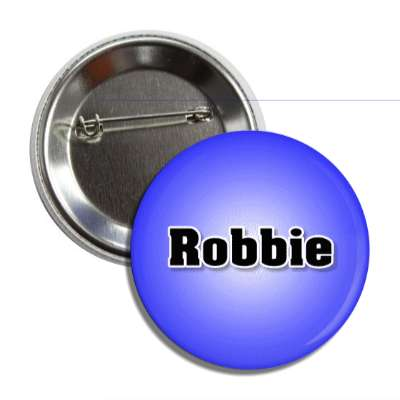 robbie male name blue button