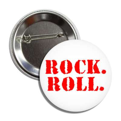 rock roll grunge stencil button