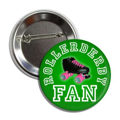 rollerderby fan green button