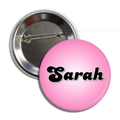 sarah female name pink button