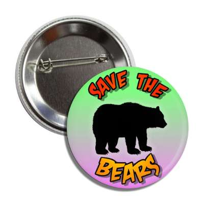 save the bears silhouette button