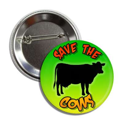 save the cows silhouette button