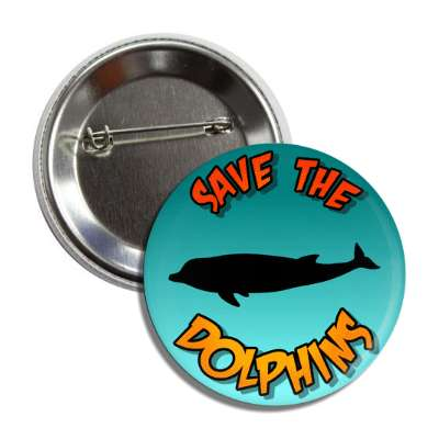 save the dolphins silhouette button
