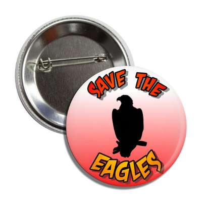 save the eagles silhouette button