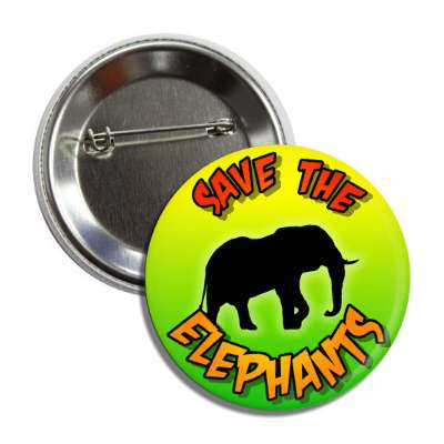 save the elephants silhouette button