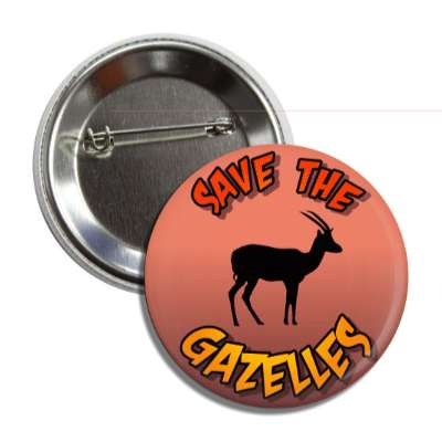 save the gazelles silhouette button