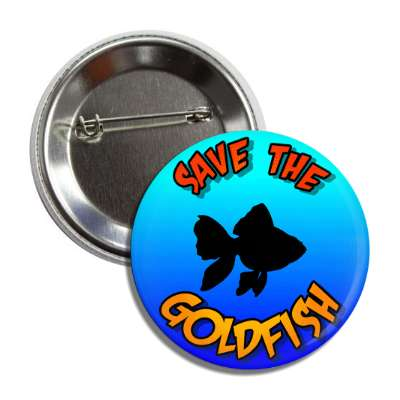 save the goldfish silhouette button