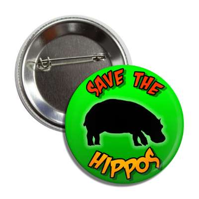 save the hippos silhouette button