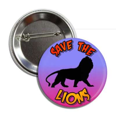 save the lions silhouette button
