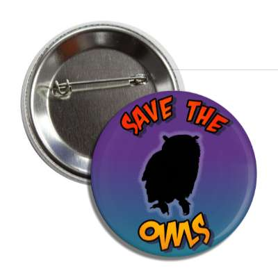 save the owls silhouette button