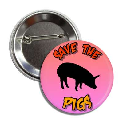 save the pigs silhouette button
