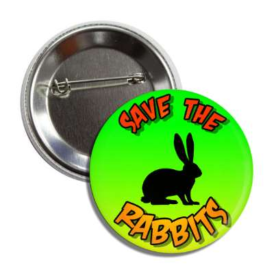 save the rabbits silhouette button