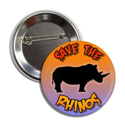 save the rhinos silhouette button