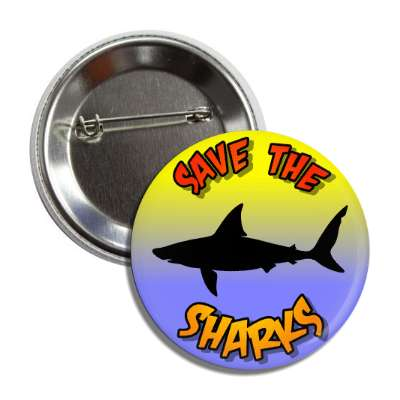 save the sharks silhouette button