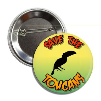 save the toucans silhouette button