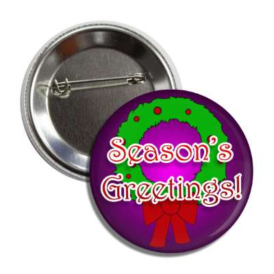 seasons greetings wreath purple gradient button